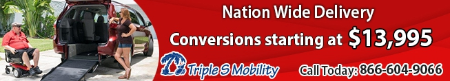 Nation Wide Wheelchair Van Delivery - Triple S Mobility