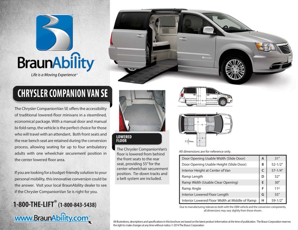 Braunability Chrysler Companionvan Side Entry Wheelchair Van