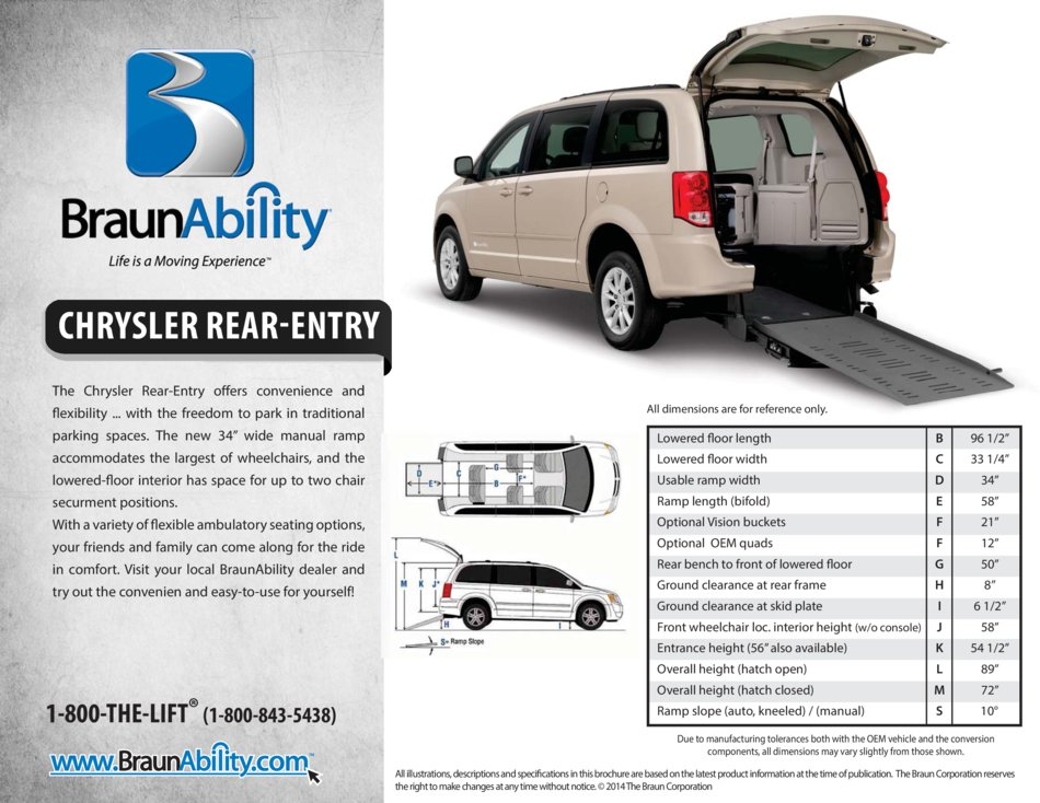 Braunability Chrysler Power Rear Entry Wheelchair Van