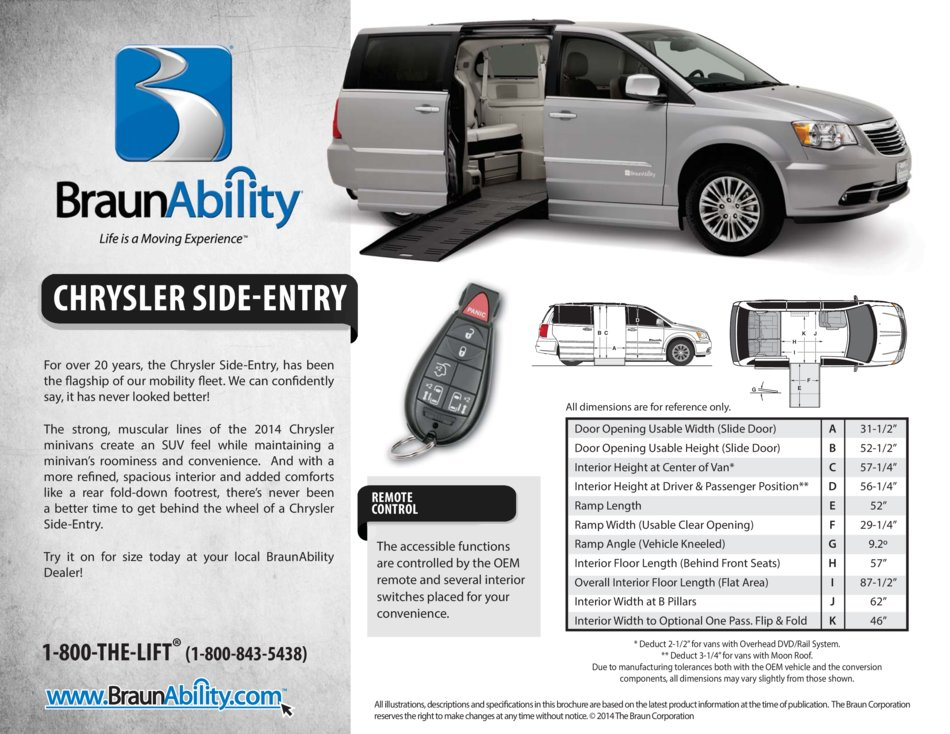 Braunability Chrysler Power Side Entry Wheelchair Van Entervan