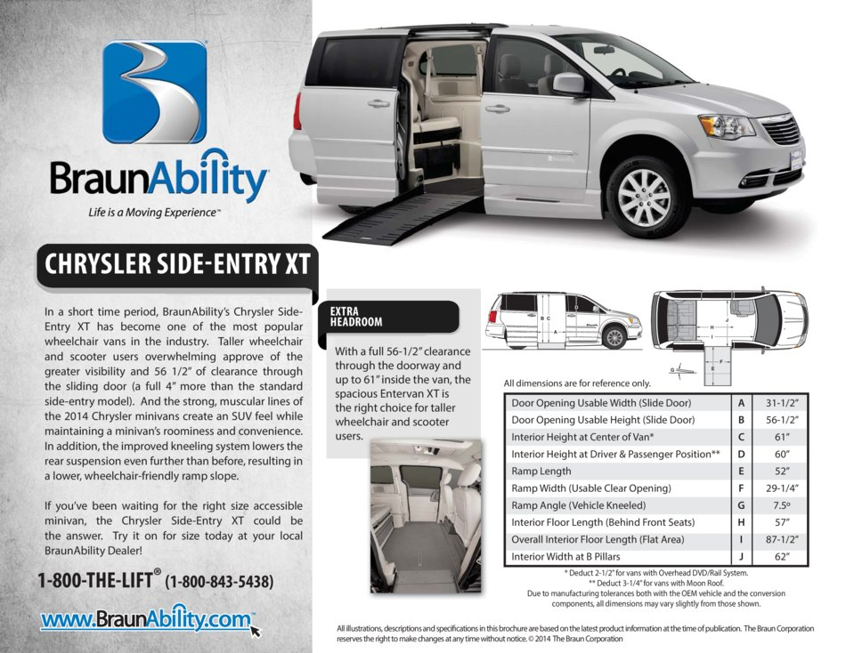 Braunability Chrysler Power Side Entry Wheelchair Van Xt
