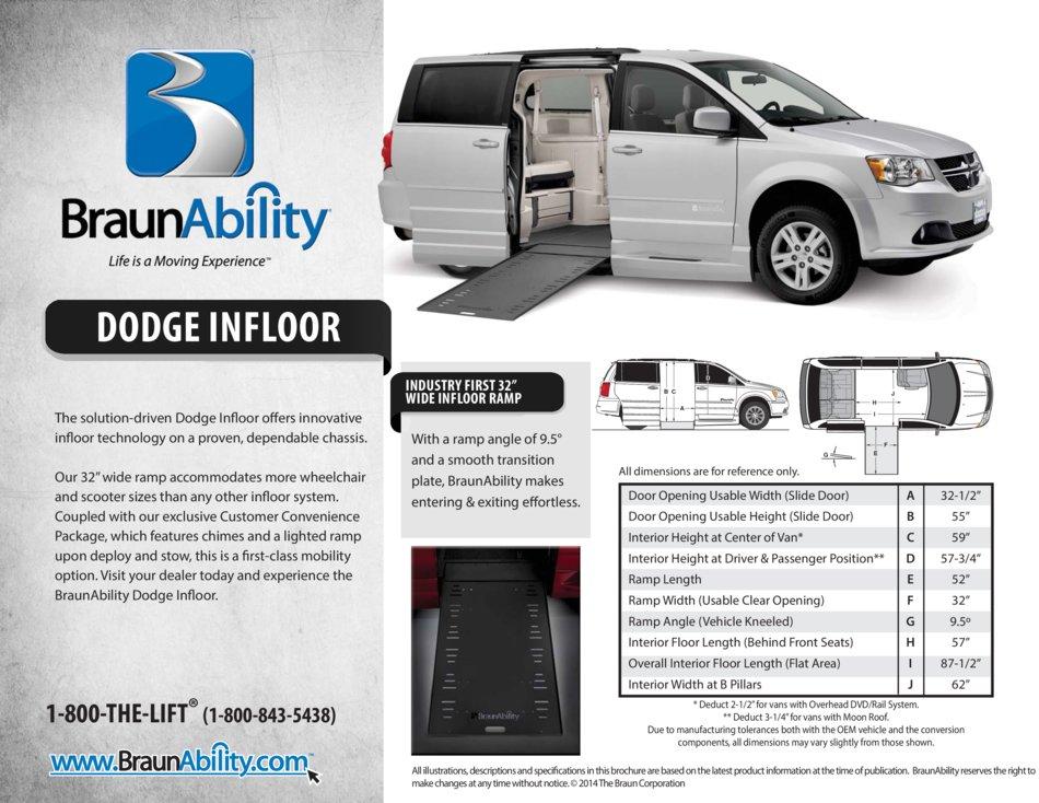 Braunability Dodge Power Side Entry Infloor Ramp Wheelchair Van