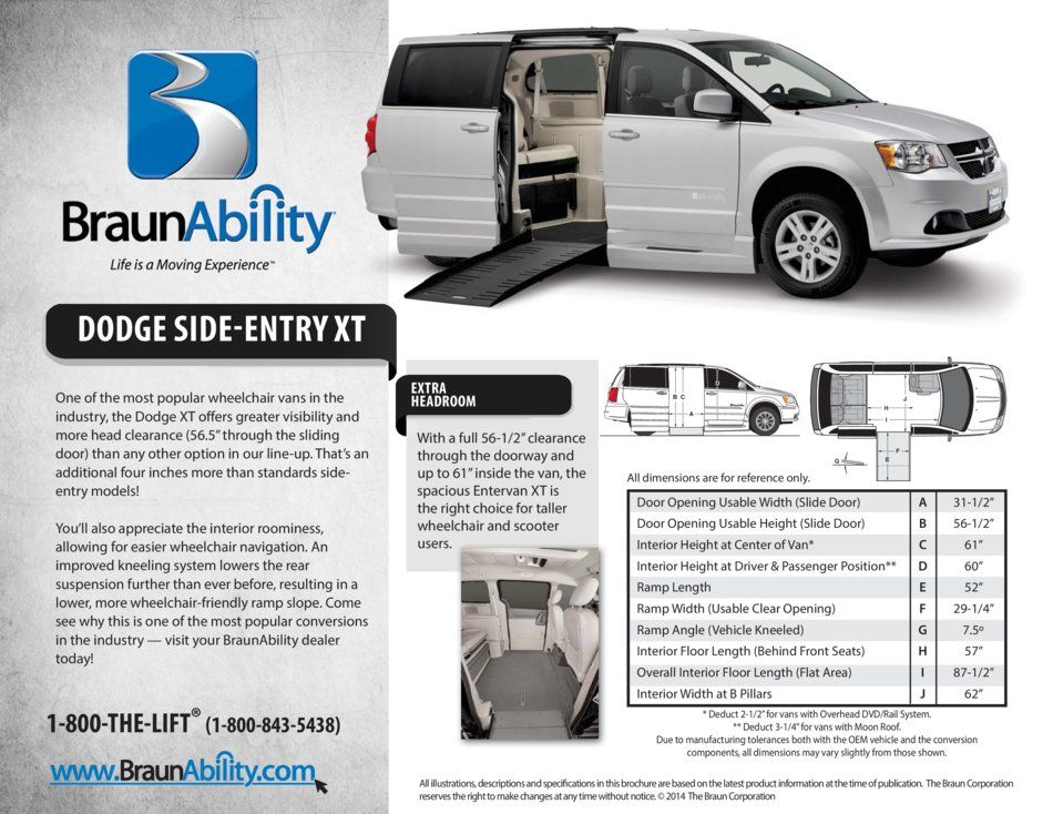 Braunability Dodge Power Side Entry Wheelchair Van Xt