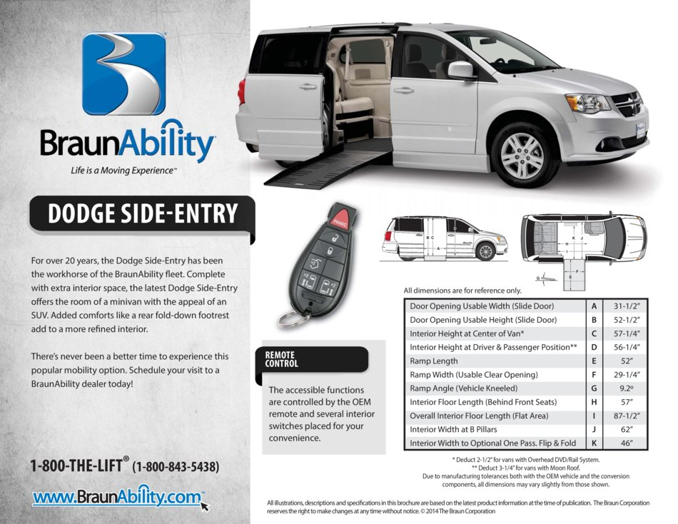 Braunability Dodge Side Entry Wheelchair Van
