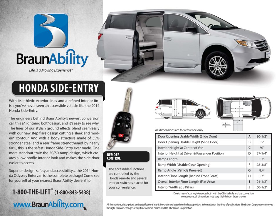 Braunability Honda Power Side Entry Wheelchair Van