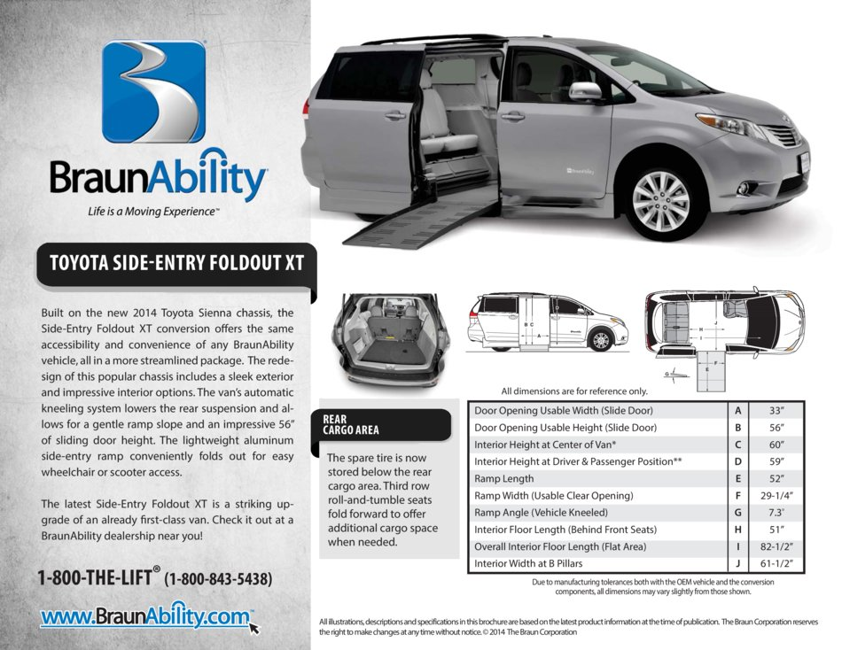 Braunability Toyota Manual Side Entry Wheelchair Van
