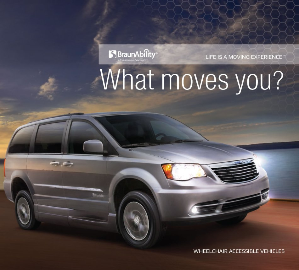 Braunability Wheelchair Van Brochure 1