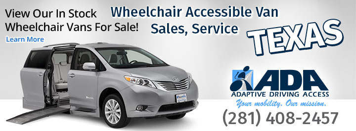 Adaptive Driving Aids of Texas Wheelchair Vans for sale.