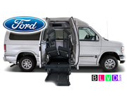 New Ford handicap van with wheelchair lift