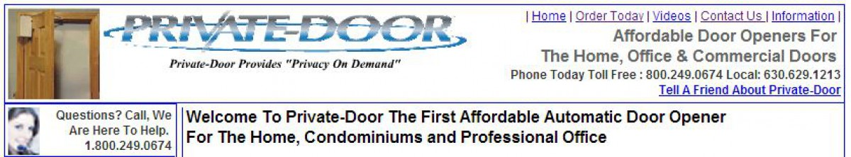 Private-Door Banner  of 1