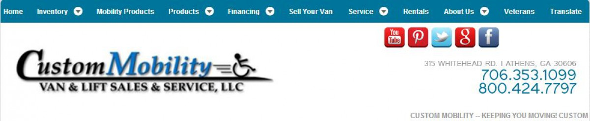 Custom Mobility Van & Lift Sales & Service, LLC Banner  of 1