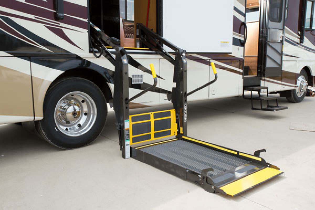 Simple Motorhome Wheelchair Lift  YouTube