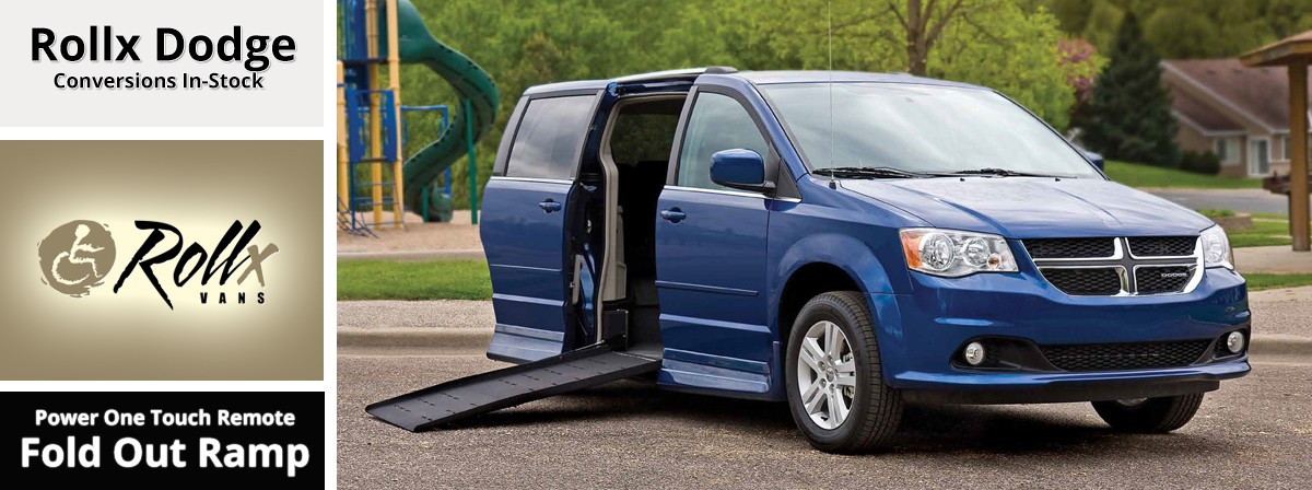 rollx wheelchair van with a fold out ramp on a Dodge Grand caravan