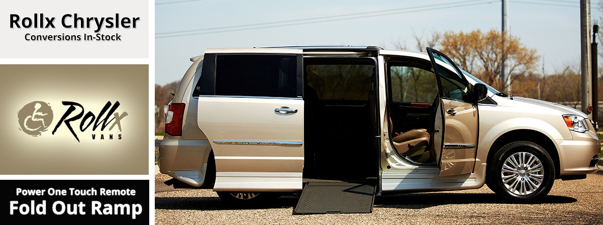 Chrysler wheelchair accessible van with a rollx fold out ramp