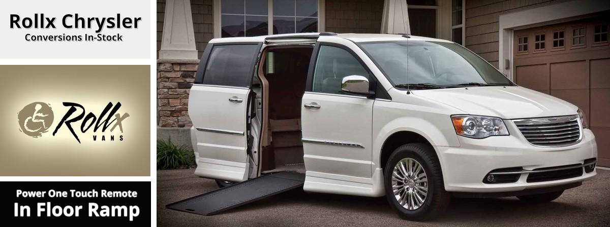 chrysler in floor ramp wheelchair van by rollx vans