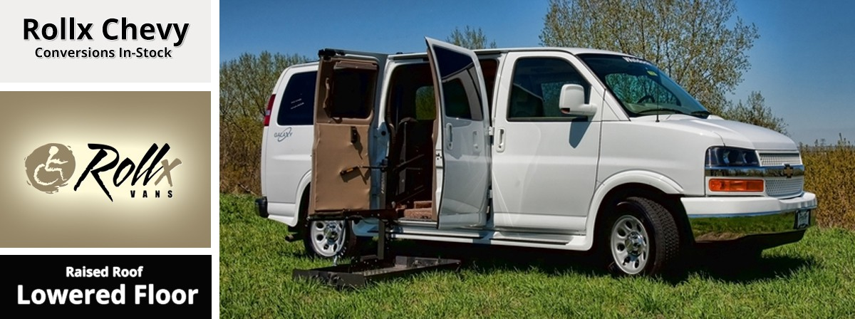 chevy full size van wheelchair accessible by rollx vans