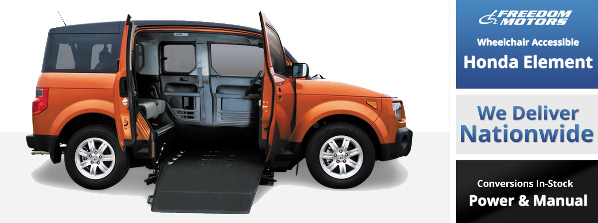 honda element wheelchair accessible by freedom motors