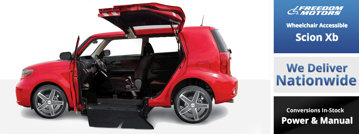 Freedom motors scion xb wheelchair accessible conversions