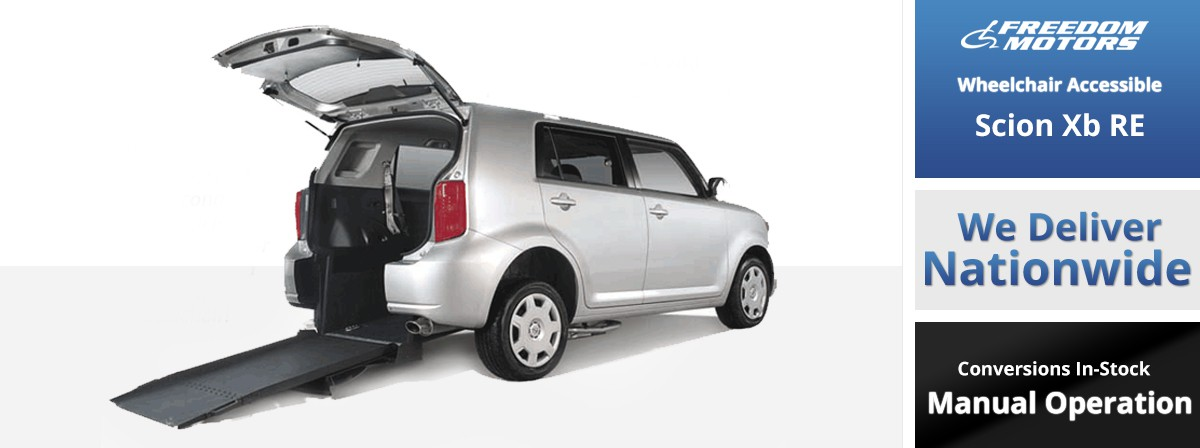 freedom motors scion xb manual rear entry wheelchair van