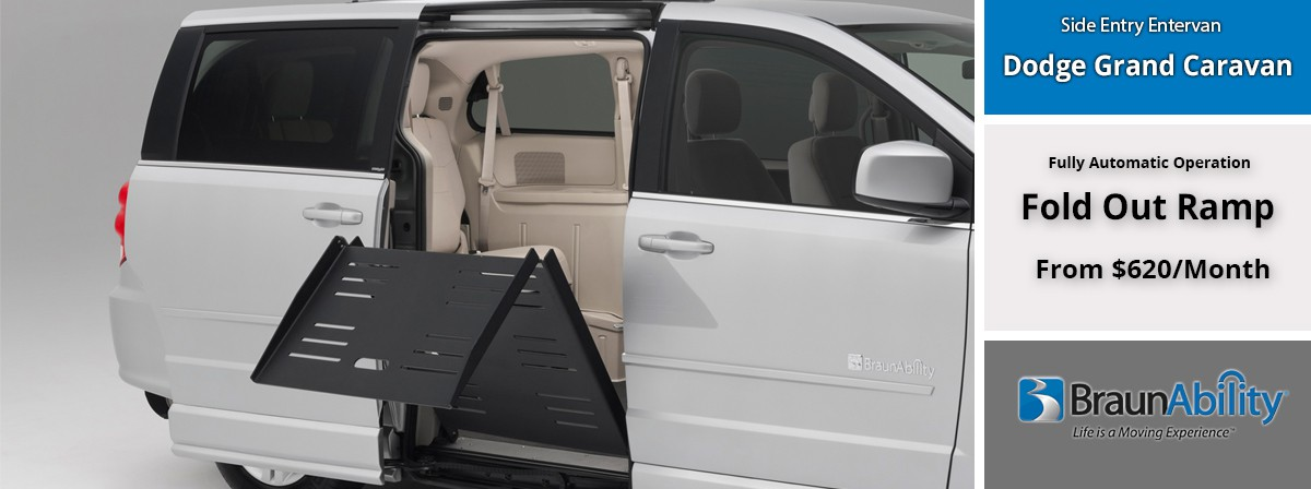 side entry power dodge wheelchair van by braunability