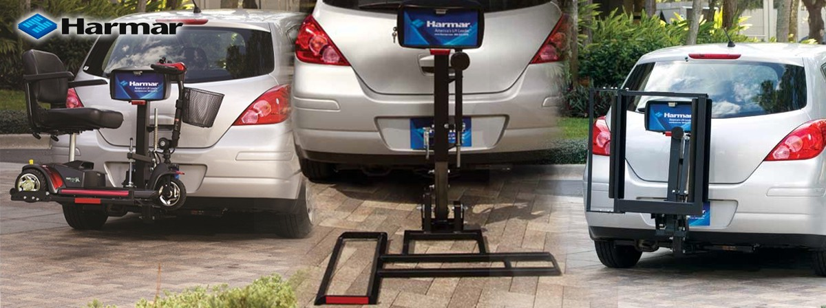 harmar outside scooter lift for car
