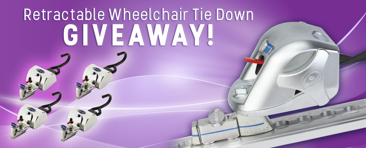 Retractable Wheelchair Tie Down Kit Giveaway! Banner  of 1