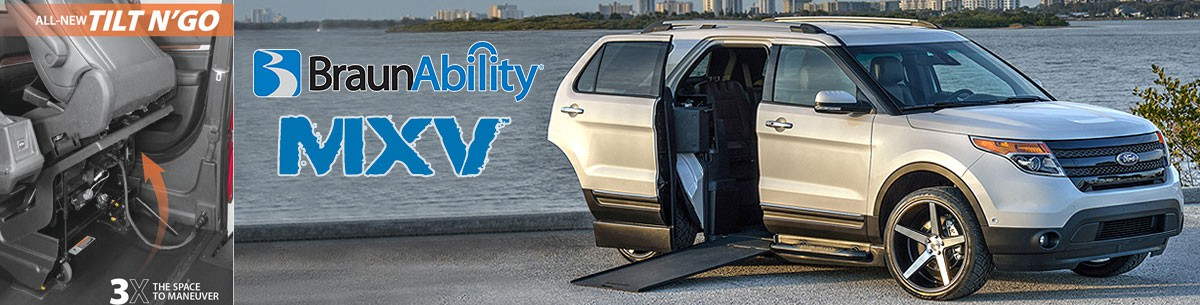 BraunAbility MXV With New TILT N' GO Seating Banner  of 1