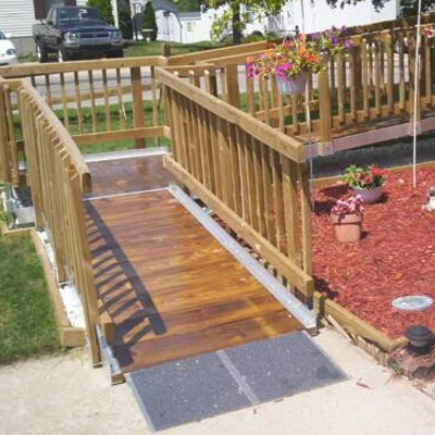 Wood Aluminum Ramps For Home Access