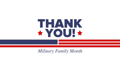 November is National Military Family Appreciation Month