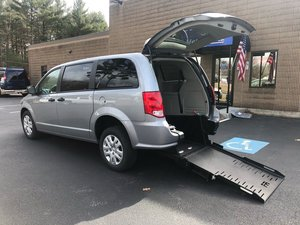 New Wheelchair Van For Sale: 2019 Dodge Grand Caravan S Wheelchair Accessible Van For Sale with a  on it. VIN: 2C4RDGBG9KR788848