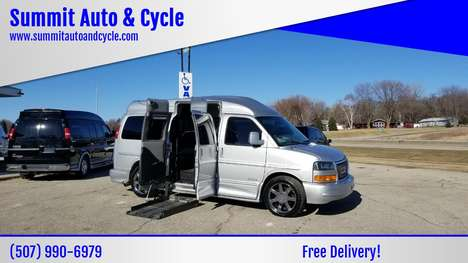 Used Wheelchair Van For Sale: 2014 Gmc Savana Cargo Cargo Van Wheelchair Accessible Van For Sale with a  on it. VIN: 1GDS8DC43E1165285