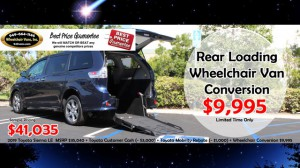 New Wheelchair Van For Sale: 2019 Toyota Sienna LE Wheelchair Accessible Van For Sale with a FR Wheelchair Vans - Toyota Rear Entry on it. VIN: ManualRearLoadingCon