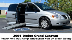 Used Wheelchair Van For Sale: 2004 Dodge Caravan  Wheelchair Accessible Van For Sale with a BraunAbility - Dodge Entervan II on it. VIN: 1D4GP24R14B502771