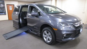 New Wheelchair Van For Sale: 2019 Honda Odyssey  Wheelchair Accessible Van For Sale with a BraunAbility - Honda Power Infloor on it. VIN: 5FNRL6H7XKB055157