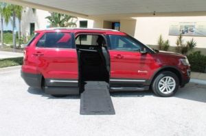 Used Wheelchair Van For Sale: 2017 Ford Explorer LT Wheelchair Accessible Van For Sale with a BraunAbility MXV Wheelchair SUV on it. VIN: 1FMK7D83HGD24678
