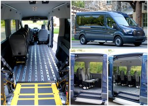 New Wheelchair Van For Sale: 2019 Ford Transit XL Wheelchair Accessible Van For Sale with a  on it. VIN: 1FBVU4XM7KKA37357