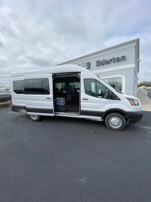 New Wheelchair Van For Sale: 2019 Ford Transit S Wheelchair Accessible Van For Sale with a  on it. VIN: 1FBVU4XM9KKB72856