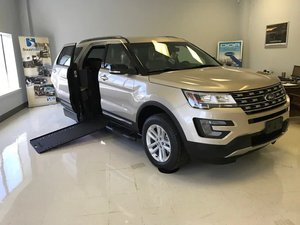 New Wheelchair Van For Sale: 2017 Ford Explorer LT Wheelchair Accessible Van For Sale with a  on it. VIN: 1FM5K7D80HGB83407