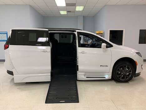 New Wheelchair Van For Sale: 2020 Chrysler Pacifica Touring Wheelchair Accessible Van For Sale with a  on it. VIN: 2C4RC1BG6LR229470
