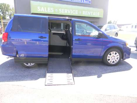 New Wheelchair Van For Sale: 2019 Dodge Grand Caravan SE Wheelchair Accessible Van For Sale with a  on it. VIN: 2C7WDGBG0KR793636