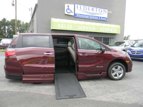 New Wheelchair Van For Sale: 2019 Honda Odyssey EX-L Wheelchair Accessible Van For Sale with a  on it. VIN: 5FNRL6H78KB130986