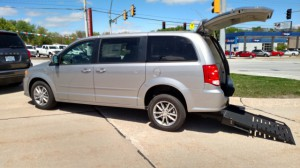 Used Wheelchair Van For Sale: 2017 Dodge Grand Caravan SE Plus  Wheelchair Accessible Van For Sale with a FR Wheelchair Vans - Dodge Rear Entry on it. VIN: 2C4RDGBG5HR640379