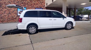 New Wheelchair Van For Sale: 2018 Dodge Caravan  Wheelchair Accessible Van For Sale with a FR Wheelchair Vans - Dodge Rear Entry on it. VIN: 2C7WDGBG4JR165951