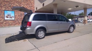New Wheelchair Van For Sale: 2018 Dodge Caravan  Wheelchair Accessible Van For Sale with a FR Wheelchair Vans - Dodge Rear Entry on it. VIN: 2C7WDGBG7JR147993