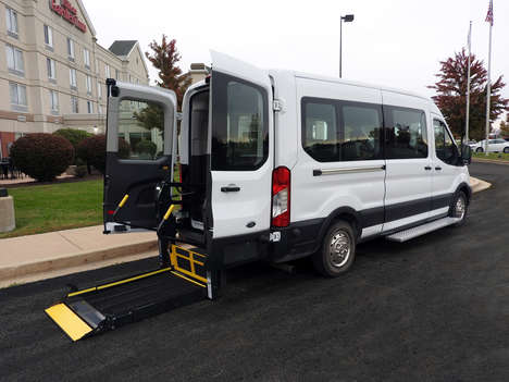 New Wheelchair Van For Sale: 2020 Ford Transit S Wheelchair Accessible Van For Sale with a  on it. VIN: 202743W