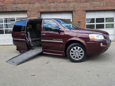Used Wheelchair Van For Sale: 2007 Buick Terraza XL Wheelchair Accessible Van For Sale with a BraunAbility - Buick Entervan on it. VIN: 4GLDV13177D124054