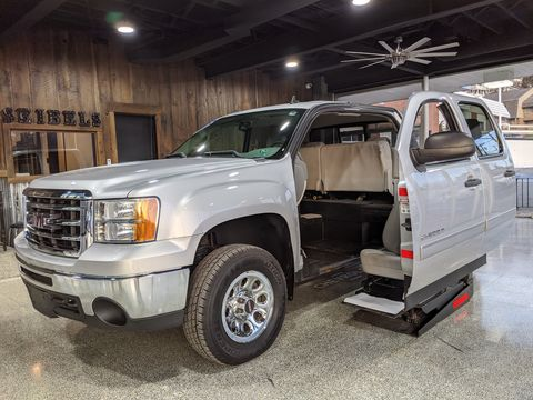 Used Wheelchair Van For Sale: 2013 GMC Sierra S Wheelchair Accessible Van For Sale with a Mobility SVM - Wheelchair truck conversion on it. VIN: 3GTP2VEA7DG184247