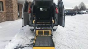 Used Wheelchair Van For Sale: 2011 Chevrolet Express LS 3500  Wheelchair Accessible Van For Sale with a  on it. VIN: 1GAZG1FG3B1104534