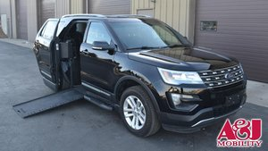 Used Wheelchair Van For Sale: 2016 Ford Explorer LT Wheelchair Accessible Van For Sale with a BraunAbility MXV Wheelchair SUV on it. VIN: 1FM5K7D88GGA86941