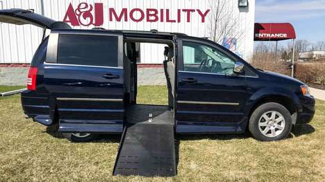 Used Wheelchair Van For Sale: 2010 Chrysler Town & Country Touring Wheelchair Accessible Van For Sale with a Rollx Vans Rollx Fold Out Chrysler on it. VIN: 2A4RR5DX7AR435763